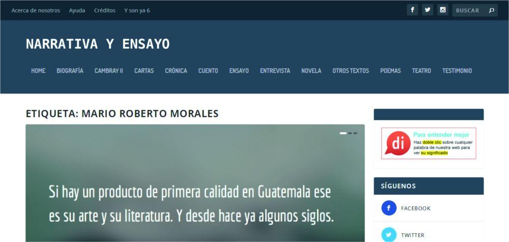 NARRATIVA Y ENSAYO GUATEMALTECO