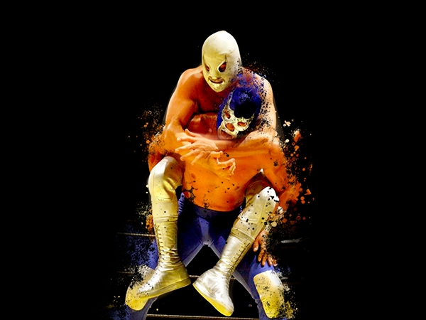 Hijo del Santo vs Blue Demon Jr_Arte Digital_José Luis Gutiérrez Gascón